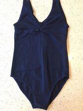 NAVY BLUE Sleeveless Leotard, AGE 3-8, Cotton RUCHE, Ballet Dance Girls NB CS