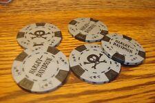 #5 Harley Davidson Poker Chip Skull & Crossbones Golf Ball Marker,Card Guard G/B