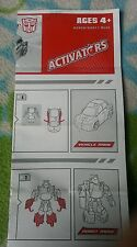 Transformers ANIMATED ACTIVATORS CLIFFJUMPER INSTRUCTION BOOKLET