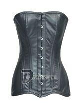Heavy Duty Double Steel Boned Long Torso Over Bust Genuine Leather Corset