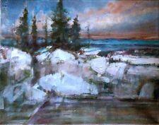 Big Sur California Ocean Surf 11x14 in. Original Oil on canvas Hall Groat Sr.