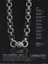 PUBLICITE  2012  CARTIER  le collier ART DECO