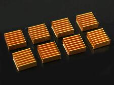 20pcs Golden 14.8x14.8x6mm Xbox360 Ps VGA RAM Memory LED IC Cooler Heatsink new