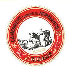 Etiquette de Fromage    Camembert de Normandie  Rigaud  No 239