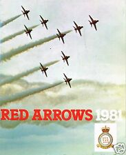 RED ARROWS: 1981 17th SEASON OFFICIAL BROCHURE - FACSIMILE EDITION