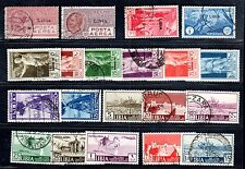 Libia 1928-39 Collection Of Used Sets Inlcuding Sc.C1-8,77-82