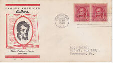 POSTAL HISTORY - FIRST DAY COVER FDC 1940 FAMOUS AMERICAN JAMES F COOPER AUTHOR