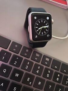 Apple Watch (series 1) 38mm in silber