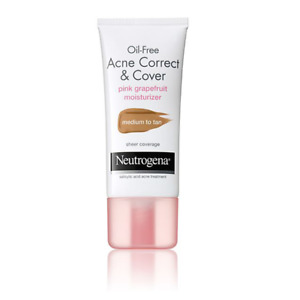 Neutrogena Oil-Free Acne Correct&Cover Moisturizer Medium To Tan 3/Pk EXP.03/18