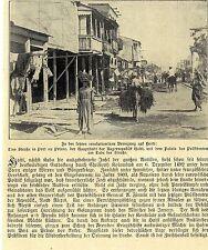 Straße mit Präsidentenpalast in Port au Price Haiti Historische Aufnahme 1908