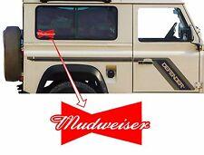 Printed Mudweiser Fun Decal for 4x4, Land Rover, Range Rover Rav, Off Roader