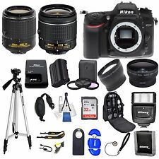 Nikon D7200 DSLR Camera w/ VR 18-55mm  + 55-200 VR ii 32GB VALUE BUNDLE *NEW*
