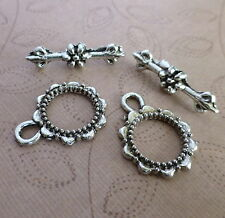 10 sets - Antique silver toggle clasp clasps