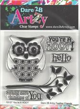 Dare 2B Artzy Owl You're A Hoot Clear Cling Rubber Stamps