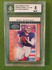 ROB JOHNSON BGS 8 NM-MT 2000 Football Preferred #31 Buffalo Bills NFL QB 1/100
