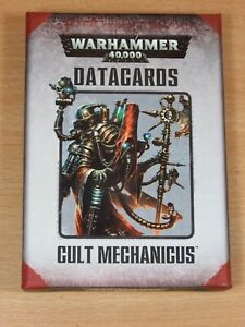 Warhammer 40k Datacards Cult Mechanicus