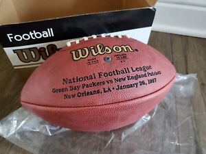 SUPER BOWL XXXI 31 Authentic Wilson NFL Game Football -  PACKERS vs. PATRIOTS