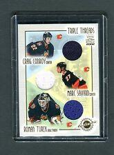 Triple Threads Crown Royale 2002 #2 Conroy Savard Turek Jersey Card jh33