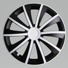 """Adornos de 14"""" Ruedas Para Vauxhall Corsa Blanco/Negro 4x14''"""