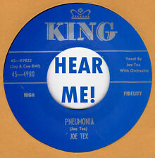 R&B/BLUES/ REPRO: KING 4840 – JOE TEX – DAVY, YOU UPSET MY HOME / PNEUMONIA