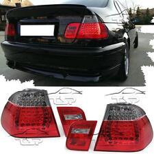 REAR LED TAIL LIGHTS RED-SMOKE FOR BMW E46 01-05 SERIES 3 SALOON LAMP NEW