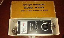 SWR & Field Strength Meter Mattco Marketing Model M-SWR Transmitter