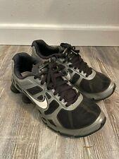 Nike Shox Turbo 8.5 454166 010 Black/Gray PRE-OWNED MEN'S Sneakers