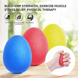 Hand Exercise Stress Relief Balls, Hand Grip Strengthener Finger Therapy 3 PACK