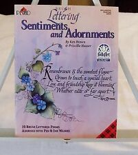 PLAID BRUSH LETTERING SENTIMENTS AND ADORNMENTS NEW