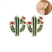 Lovely Women Girl Alloy Cactus Ear Stud Fashion Jewelry Stud Earrings Gift