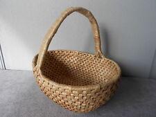Vintage French Raffia Fruit Mushroom Basket