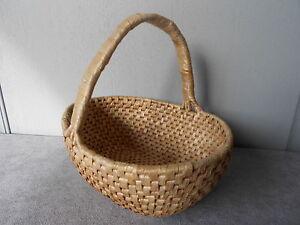 1960s Vintage French Raffia picking Basket