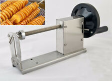 Commercial Manual Spiral Potato Chips Slicer Curly Fries Twist Hot Dog Cutter