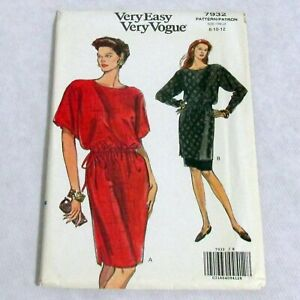 Vintage Vogue Very Easy Pattern 7932 Misses Petite Dress Tunic Skirt 8 10 12