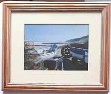 Framed photograph of MUNDESLEY BEACH Fishing Boats Crab pots