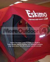 69143 Eskimo QuickFish 3 Ice Shelter Fishing Shanty Portable Pop Up SALES MODEL