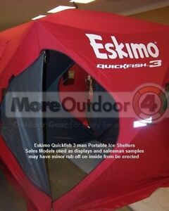 69143 Eskimo QuickFish 3 Ice Shelter Fishing Shanty Portable Pop Up MFG REFURB