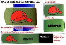 2 Paar LANGLAUF-SKI-KLETTBÄNDER KEMPER de Luxe, Skihalter   --NEU--