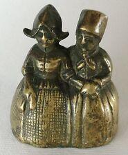 Vintage Brass Dutch Boy & Girl Double Figural Bell Holland