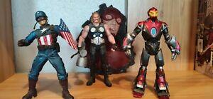 Figurines Ultimates, Marvel Select, Thor, Iron Man, Captain America, rare