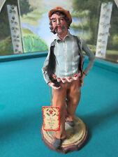 """Ceramiche TERRACOTTA FIGURINE TOWN MAN SCULPTURE BY ANGELA TRIPI 11"""""""