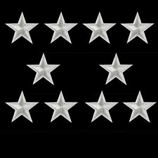 252 LOT of 5 YOUR CHOICE Red Blue Gold Yellow White Silver 3 inch star patches