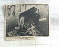 1963 Wet Weather Causes Collapse Of Parc Villas Wall, Bellevue, Newlyn