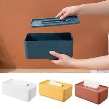 1XPlastic Tissue Box Wet Tissue Holder Storage Box Paper Towel Home Storage Red