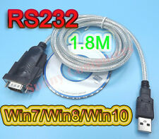 1.8M USB to RS232 Serial DB9 Adapter Cable for Win7 Windows 7 XP 8 10 64 PL2303