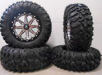 "MSA Lok 15"" UTV Wheels 28"" MotoClaw Tires Polaris Ranger XP 9/1K"