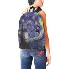 Starry Night Van Gogh feat Tardis Police Box Nylon Backpack Bag School Bag