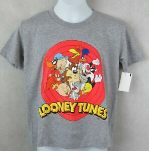 Looney Tunes Boys T-Shirt Gray New Officially Licensed Taz Bugs Daffy Tweety