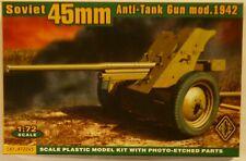 ACE 1/72 WWII Soviet 45mm Anti Tank Gun Mod 1942 Model Kit
