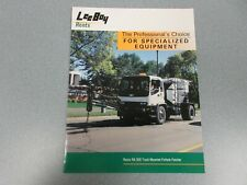 Leeboy Specialized Equipment Color Brochure 4 Pages